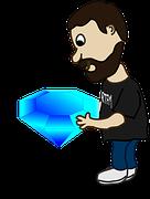 hombre con diamante